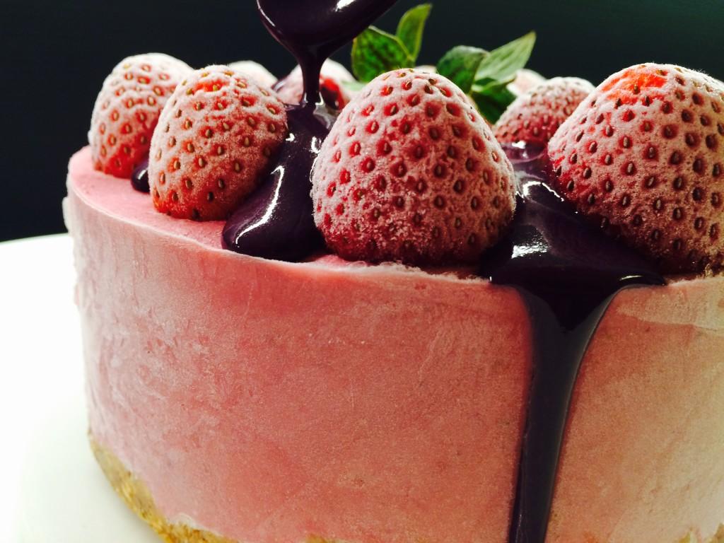 Tarta gelada de maduixes 8